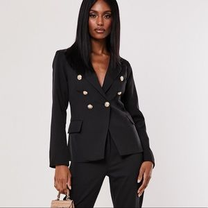 Black Military Blazer w/gold buttons